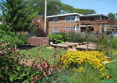 Elmhurst Project : Outdoor Classroom for learning and unstructured play, surrounded by Nature. Recipient of 2014 Chicago Wilderness Native Landscape and Conservation Award