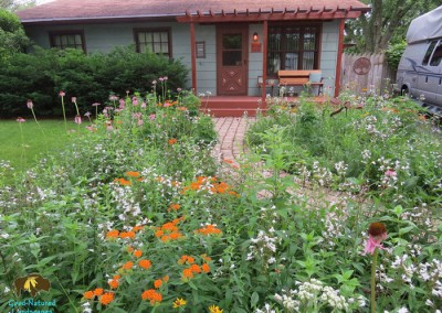 Naperville Project – Curb Appeal, Wildlife Habitat, Storm-water management, Recycled Materials