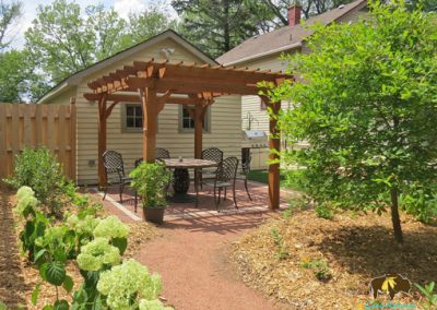Westmont Project – Wildlife habitat, permeable patio, fire pit area, paths